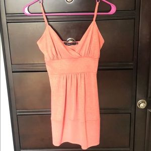Arden B. XS coral sparkly top